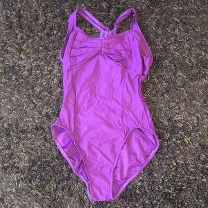 Capezio purple dance bodysuit